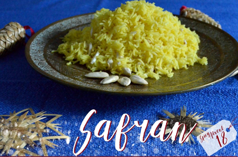 Safran-Reis mit Mandeln