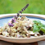 Quinoa-Salat mit Pilzen